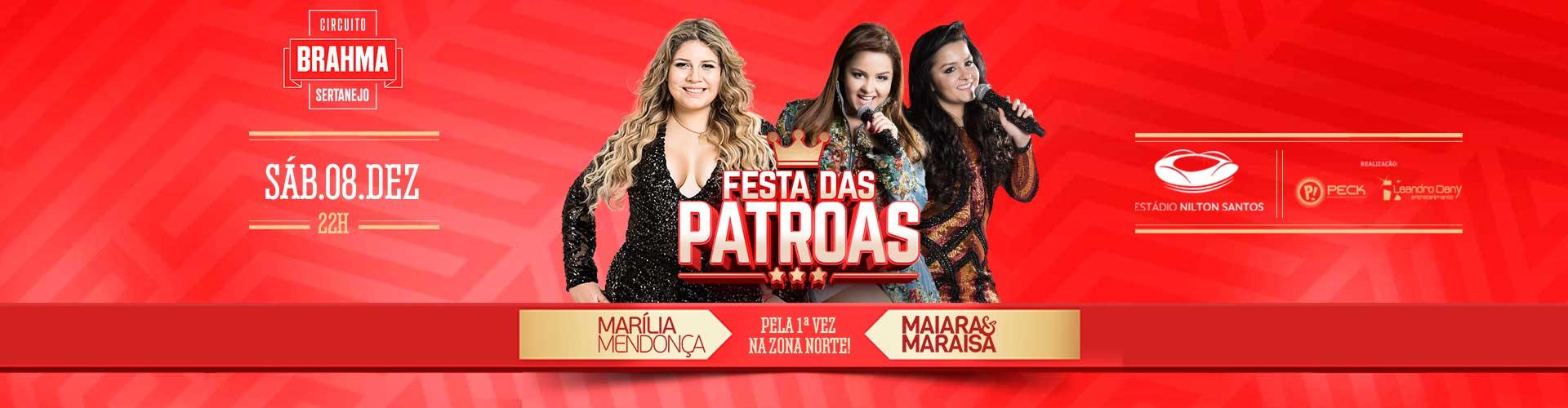 Festa das Patroas - 08/12/2018