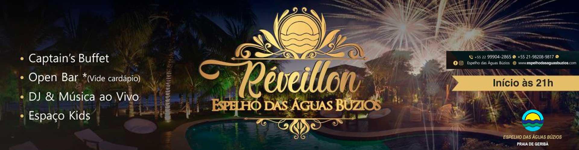 Reveillon 2019 Espelho das Águas Búzios - 31/12/2018